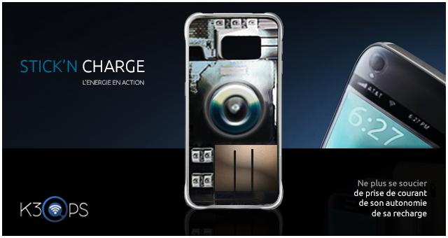 k3 case recharge les smartphones avec les ondes RF ambiantes