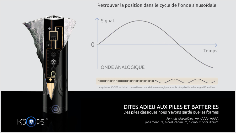 k3ops pile par recuperation energie des signaux de frequence radio  dans l'air