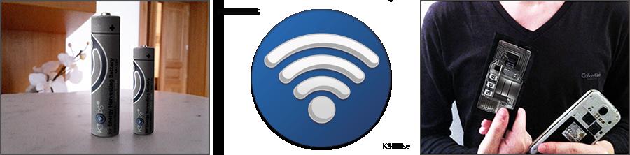 k3ops pile a recuperation energy des ondes RF ou stick'N charge les smartphones avec les ondes