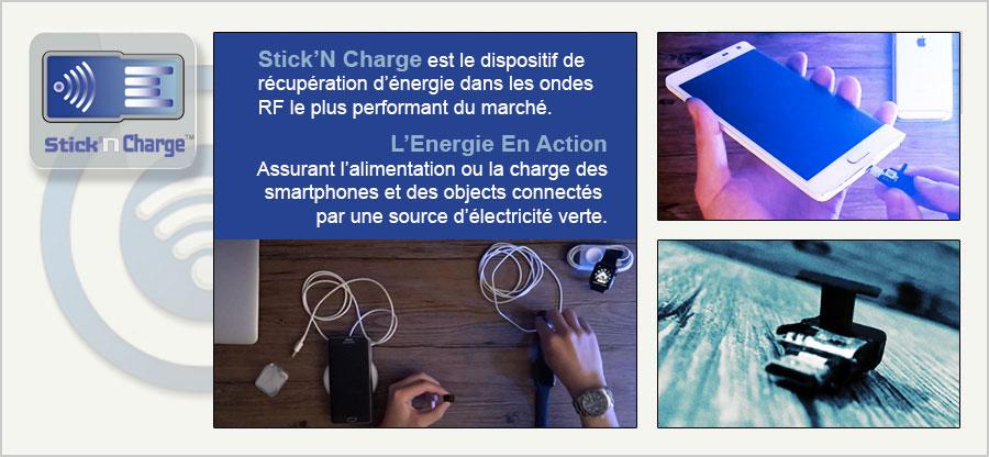 k3ops stick'n charge, recharge tous les smartphones par les ondes RF